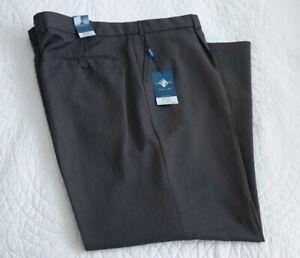 "BNWT Taylor & Wright Crease Resistant Grey Mens Trousers W44""/112cm Leg 31""/79cm"