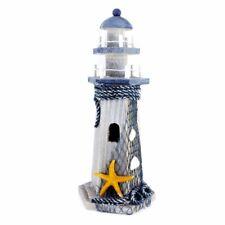 "Nice Decor 10.6"" x 4.6"" Lighthouse Sailing Statue Starfish Sea Ocean Netting"