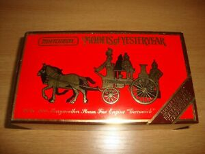 L154 Matchbox - Models of Yesteryear YS-46 1880 Merryweather Steam Fire Engine