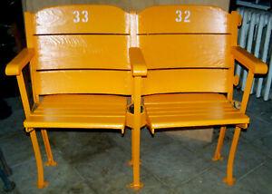 🏀 BOSTON GARDEN FLOOR SEATS Seat Chair Celtics Bruins Bird Orr Cousy Bourque 🏀