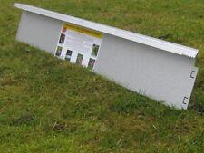 10x Broad Lawn Edging 14 cm high Metal Aluminium with double antirust