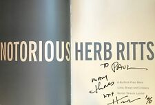 Herb RITTS (Photographer): Notorious - SIGNED BOOK