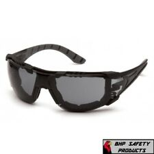 Pyramax Endeavor Plus Safety Glasses With Gray Anti Fog Lens And Foam Padding