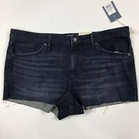 Universal Thread Hi Rise Stretch Shortie Cutoff Denim Blue Jean Shorts Sz 18 NWT