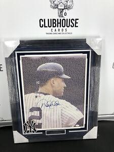 Derek Jeter Signed Framed 16x20 New York Yankees HOF And Captain