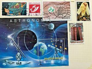10 Belgium stamps plus one 2009 mini sheet