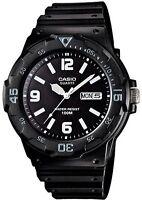 Casio Men's Analogue Day And Date Watch,  Black & White, MRW-200H-1B2VDF