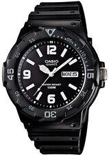Casio Para Hombre Análogo Día Y Fecha Reloj, Blanco Y Negro, mrw-200h-1b2vdf