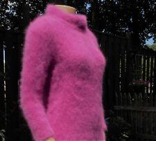 Very Fuzzy 70% Angora Mock Turtleneck Sweater! Fluffy Furry Soft!