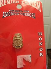 POLICE Shield Style Tie Pin in Goldtone