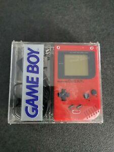 Console Game Boy Fat Rouge avec boîte Transparente