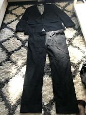MENS Black Full Suit / Trousers Size W 40 JACKET 44R Next/M&S