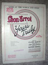 1926 LOOK AT THE WORLD AND SMILE Sheet Music by Caldwell, Hubbell LEON ERROL