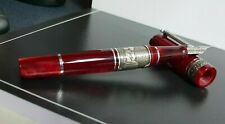 Marlen Pompeii Fountain Pen | Red Italian Resin, Lava Rock | Old Cities Collect.