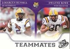 JAMARCUS RUSSELL DWAYNE BOWE 2007 card LSU Louisiana State Tigers Football NM
