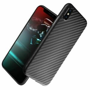 Shockproof Carbon Fibre Case For Apple iPhone 10 X 8 Plus 7 6s Se 5 Thin Cover