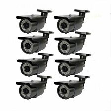 Amview 1300TVL 1.3MP 8 Outdoor 72IR IR CUT Security Surveillance CCTV Camera 8pc