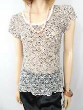 QUEENSPARK White Black Lace Top Sz S BUY ANY 5 ITEMS = FREE POST