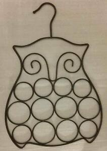 OWL SHAPED METAL SCARF ORGANIZER - NEW WITHOUT TAGS