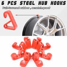 "6pcs Car Wheel Hub Hanging Boss Hook 13-22"" Tire Wall Mount Stand Holder Bracket"