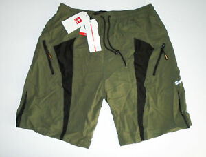 SANTIC Cycling Shorts BAGGY Padded M1203 Long Distance 2 in 1 GREEN Mens NWT 2XL