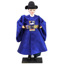 "Korean Traditional Handicraft Hanbok Dolls New Groom 13"" Collectible Figure Gift"