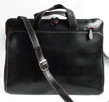LODIS Black Slim Leather AUDREY BRERA Laptop Bag Briefcase