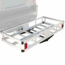 "48"" Aluminum 500lb Hitch Mount Cargo Carrier Storage Basket Hauler for Vehicle"