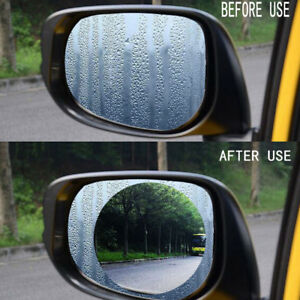 2pcs Car Anti Fog Film Coating Rainproof Rear View Mirror Waterproof Protective