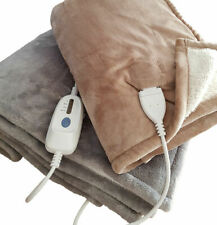 Electric Blanket with Fleece, Fur and Multi Function Heat settings in 2 Colours