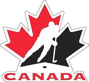 """Team Canada Hockey bumper sticker wall decor Large vinyl decal, 10""""x 9.5"""""""