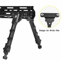 "Hunting 7.5"" to 9"" Adjustable Spring return Bipod fit M-lok Mount for Rifle"