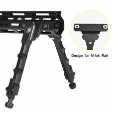 """7.5""""-9"""" Adjustable Spring Tactical Aluminum M-lok Rifle Bipod for Rifle Hunting"""