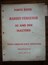 Massey Harris 30 30K Parts Manual