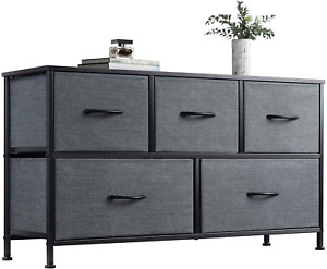 WLIVE Dresser with 5 Drawers Dressers for Bedroom Fabric Storage Tower Hallway