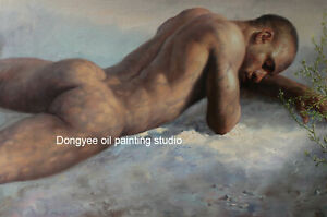 Art prints canvas from oil painting male nudes lying men 200 photos listed 24x36