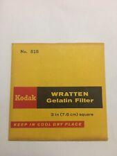 "Kodak Wratten 82B Gelatin 3"" Square Filter NEW"