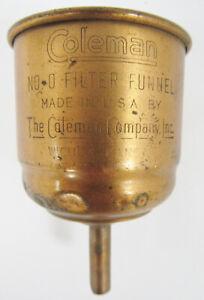Vintage Coleman Lamp And Stove CO. No. 0 Copper Filter Funnel - Wichita, KS. USA