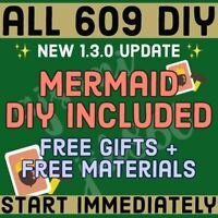 Crossing Full All Complete 609 DIY RECIPES⚡️+Gifts + Free Materials⚡️Animal NH