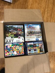 18 Different Jigsaw puzzles  1000pc /750/500 In Box