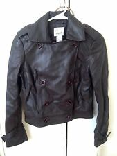 Vakko Sport woman's dark brown leather jacket size M