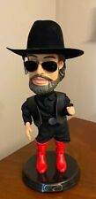 Hank williams jr bocephus Animated Doll Figure sings dances rare Gemmy Pop