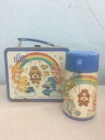 Vintage Care Bears Metal Lunchbox 1983 With Matching Thermos