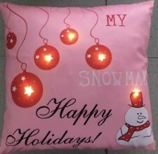 Holiday Throw Pillow, Light LED Photoreal Printed Cushion with LED Light and x