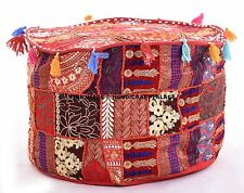 New Indian Pouf Ottoman Cover pouffe pouffes Foot Stool Moroccan Ottomans Throw