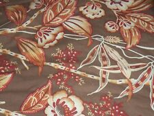 Martha Stewart Queen Bed Comforter Brown/Rust floral, Euro Shams, Standard Shams