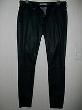 "Jeans, Rich & Skinny "" Black Leather Look "" Jeans for Woman. Size  28"