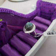 Stunning Labradorite & Zircon Ring in Sterling Silver