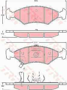 TRW GDB3224 Brake Pad Set