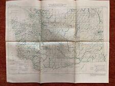 Index To Maps Of Washington State Map-1962 20�x26� 1:1000000 vtg-mid-century Us